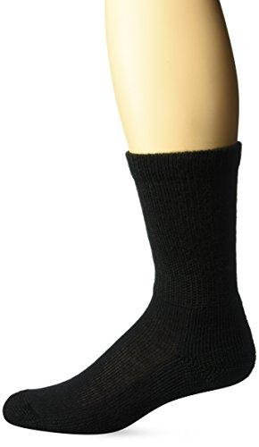 Thorlos Women's HPXW Diabetic Thick Padded Crew Sock, Black, Small by thorlos