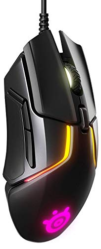 SteelSeries Rival 600 Gaming Mouse - 12,000 CPI TrueMove3+ Dual Optical Sensor - 0.5 Lift-off Distance - Weight System - RGB Lighting (Renewed)