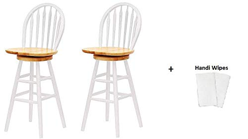 Winsome Wood Wagner Windsor Chair Set of 2, (White and Natural Finish 30