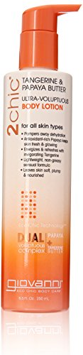 Giovanni 2chic Body Lotion with Tangerine and Papaya Butter, 8.5 Fluid Ounce