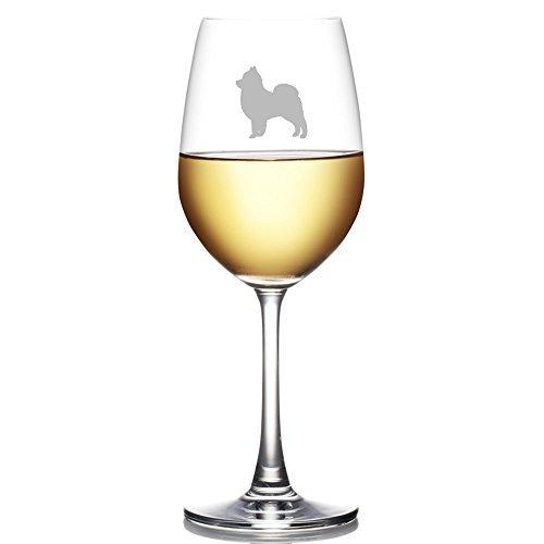 Pomeranian Dog Breed Engraved 11 oz Wine - Glass Wine Dog Breed