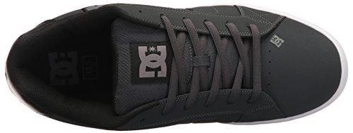 DC Net M - Zapatillas de deporte de cuero nobuck para hombre Gris/Gris/negro