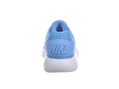 Nike Hombres React Hyperdunk 2017 Low University Azul / Plata Metalizada / Blanco Sintético Running Zapatos 7.5 D Us