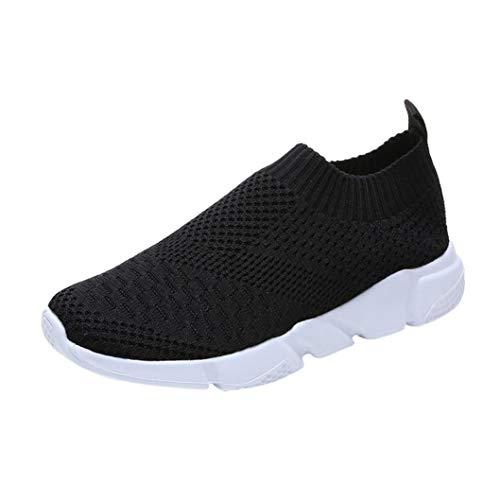 UOKNICE Clearance Women Outdoor Mesh Shoes Casual Slip On Comfortable Soles Gym Sneaker Running Sports Shoes(Black, CN 39(US 7))