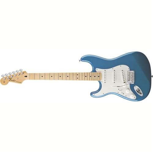 Fender Standard Stratocaster Electric Guitar   Left Handed   Maple Fingerboard  Lake Placid Blue