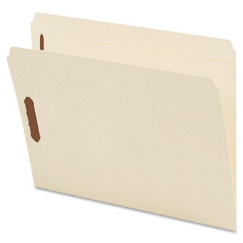 Smead Fastener File Folder, 2 Fasteners, Reinforced Straight-Cut Tab, Letter Size, Manila, 50 per Box ()