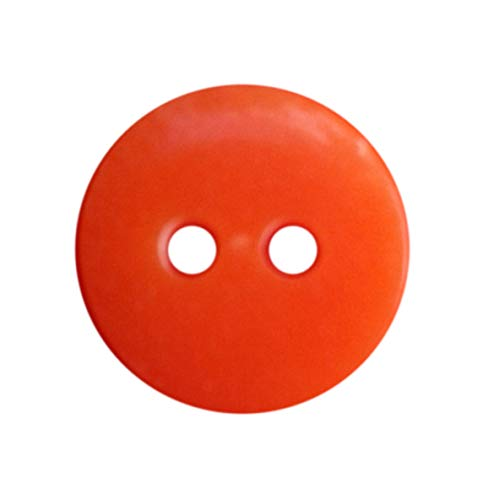 Bright Buttons (NDC Bright Orange Sewing Craft Buttons 100 Pack)