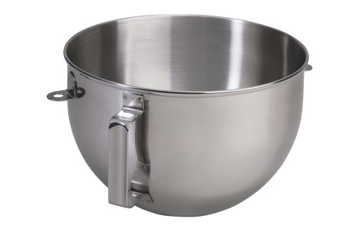 Stainless Replacement Steel Bowl (KitchenAid 5qt Polished Stainless Steel Mixer Bowl with Flat Handle)