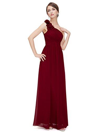 Vestido Elegante para Vestido de Dama de Verano Mujer Ever Cóctel Boda Pretty Fiesta 08237 Borgoña Honor Largo Cqwnf5
