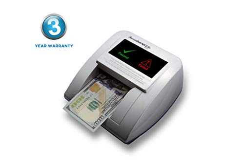 AccuBANKER D470 Quadscan 4-Way Orientation Counterfeit Detector with UV, MG, IR, WM, Image, Length, Spectrum Counterfeit Detection Methods - Optional Battery for Portable Use (No Battery) (The Best Counterfeit Money Detector)