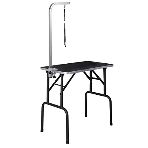 Giantex Adjustable Grooming Table Rubber