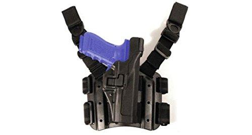 BLACKHAWK! Serpa Level 3 Tactical Black Holster, Size 00, Right (Blackhawk Black Level)