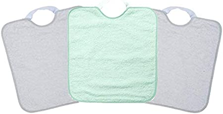 Ti TIN - Pack 3 Baberos impermeables para Bebé Niño con Cierre con Goma 90% Algodón - 10% Poliéster | Lote de 3 Baberos para Bebés de Más de 1 Año, 33x36 cm