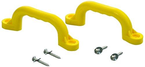 CREATIVE CEDAR DESIGNS Playset Safety Handles (One Pair)- Yellow, One Size (Playground Accessories)