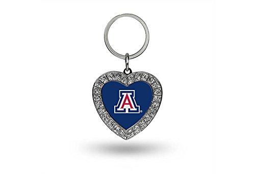 Arizona Wildcats Heart (NCAA Arizona Wildcats Rhinestone Heart Keychain)