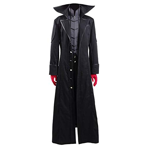 Akira Kurusu Cosplay Costume Joker Outfit Halloween Long Jacket Full Set (Medium, Full Set)