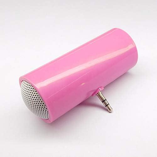 papuca スマホ用ミニスピーカー ステレオプラグインスピーカー ポータブルスピーカー 高音質 小型で大音量 パソコン/IPAD/ipod などに適合(ピンク)