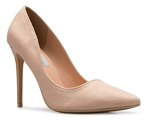 (OLIVIA K Women's Classic D'Orsay Closed Toe High Heel Pump - Casual Comfortable)
