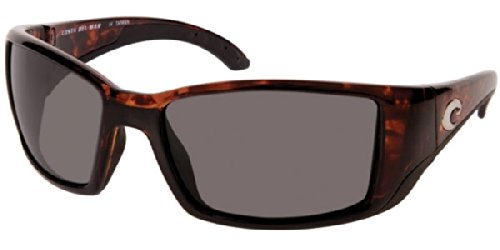 Costa Del Mar Blackfin Tortoise Sunglasses - Gray 580 Glass - Glass Costa 580