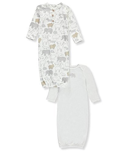 Carter's Baby 2-Pack Sleeper Gowns with Elephant Print Newborn ()