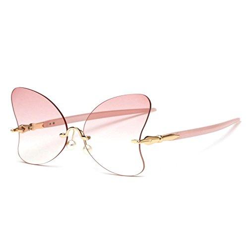 lentes marco de d sin personalidad Gafas de espejo con c para la rana irregular mariposa RDJM de sol forma mujer PqCwXx