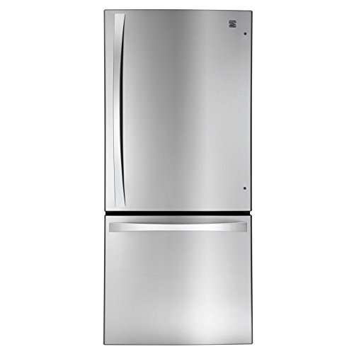 Kenmore Elite 79023 22.1 cu. ft. 2 Door Bottom-Freezer Refrigerator in Stainless Steel, includes delivery and hookup (Pull Drawer Freezer Out)