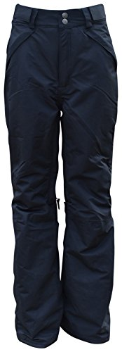 Pulse Big Girls Youth Insulated Snow Skiing Pants (Medium (10/12), Black) (Size 12 Youth Snow Pants)