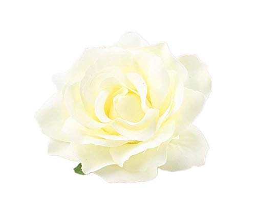 Lovefairy Beautiful Rose Flower Hair Clip Pin up Flower Brooch For Party Travel Festivals (Cream)