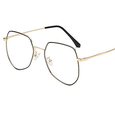 FeliciaJuan Adult Glasses The Ultra Light Metal Frame Glasses Restoring Ancient Ways General Computer Goggles Men and Women