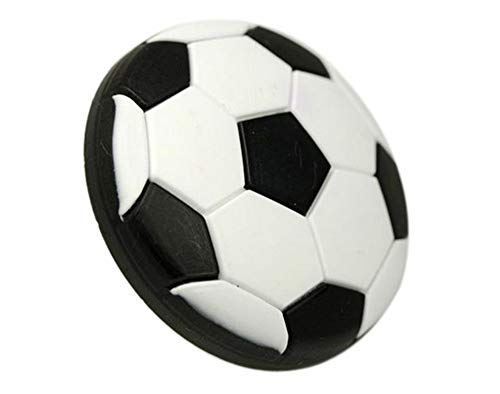 MOODSCUS White Black Soft Football Handle Children Cabinet Door Drawer Dresser Cupboard Wardrobe Knob Pulls 40mm ()