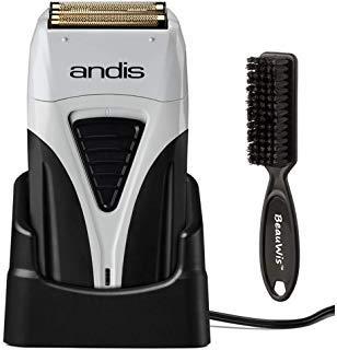 (Andis Cordless Profoil Lithium Plus Titanium Foil Shaver with BeauWis Blade Brush)