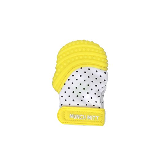 Baby Mini Teething Mitten Yellow Infant/Preemie Size by Munc