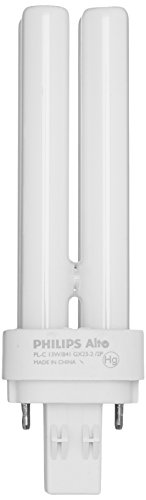 Philips 13W 2 Pin GX232 Cool White Double Twin Tube USA CFL Bulb