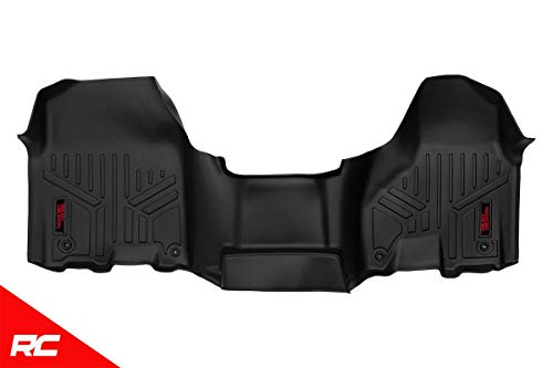 Rough Country Floor Liners (fits) 2012-2018 RAM Truck w/Half Length Console 1st Row Black Rugged Floor Mats M-3131