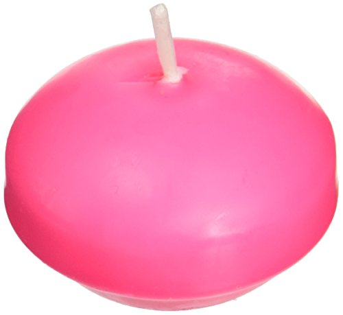 Zest Candle 24-Piece Floating Candles, 1.75-Inch, Hot Pink