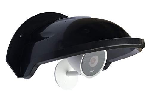 Universal Sun Rain Shade Camera Cover Shield for Nest/Ring/Arlo/Dome/Bullet Outdoor Camera - Black