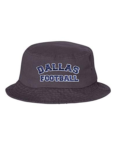- Go All Out One Size Charcoal Adult Dallas Football Embroidered Bucket Cap Dad Hat
