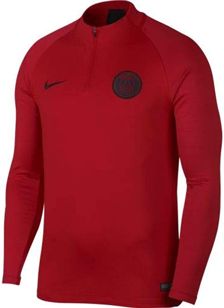 NIKE Dri-FIT París Saint-Germain Strike Shirt Men Camiseta de Fútbol de Entrenamiento, Hombre, Rojo (University Red/University Red/Oil Grey), M: Amazon.es: Ropa y accesorios