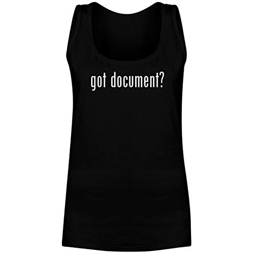 - The Town Butler got Document? - A Soft & Comfortable Women's Tank Top, Black, Large