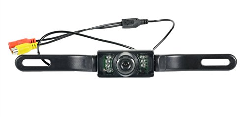 ETvalley 8 LED Waterproof Car Rear View Camera Backup Camera with 170 ° Viewing Angle, Black by ETvalley