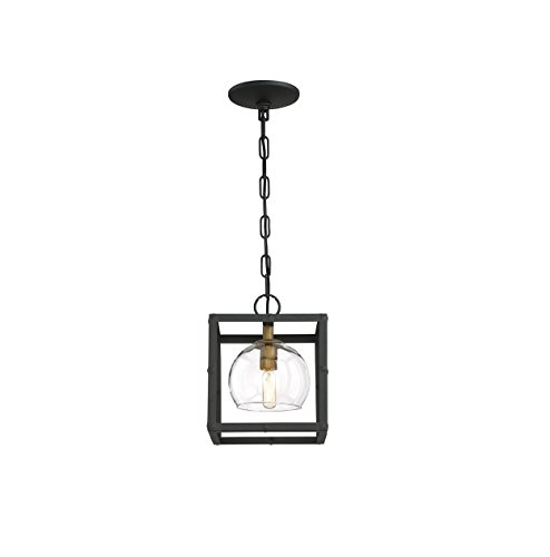 Eurofase 31650-HB Bentley Collection 1-Light Black and Gold Pendant