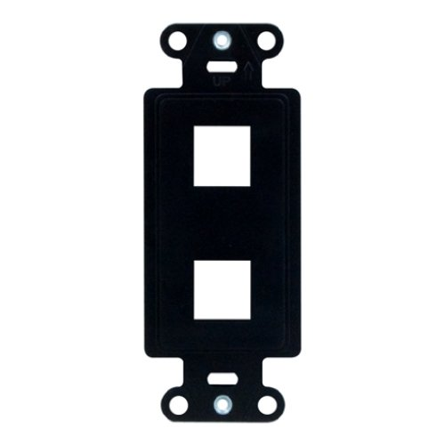 Decorator Style 2 Connector Plate - Legrand - On-Q WP3412BK 2Port Decorator Outlet Strap, Black
