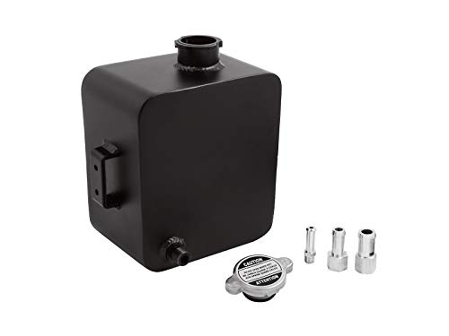 (Universal 2.5L Aluminium Alloy Water Coolant Header Overflow Expansion Tank (Black))
