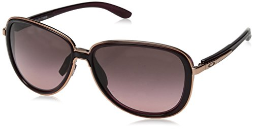 Oakley Women's Split Time Aviator Sunglasses, Crystal Raspberry, 58.2 mm