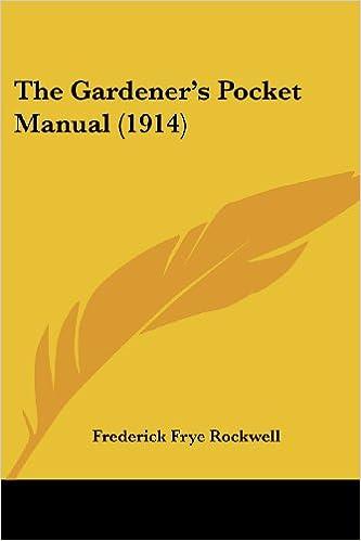 Book The Gardener's Pocket Manual (1914)