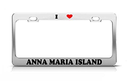 I HEART ANNA MARIA ISLAND Florida Island Nature Metal Tag License Plate Frame