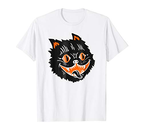 Black Cat Ears Halloween Cute Vintage T-shirt 2018 -