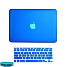 "Easygoby 2in1 Matte Frosted Hard Shell Case Cover for 13-inch White Unibody MacBook 13"" (Model: A1342 / Released after Oct. 2009) + Keyboard Cover - Royal Blue"