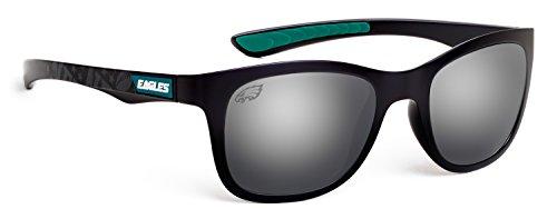Officially Licensed NFL Sunglasses, Philadelphia Eagles, 3D Logo on Temple - 100% UVA, UVB & UVC - With Logo Eagle Sunglasses