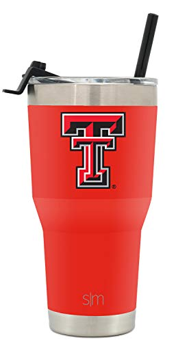 Simple Modern College 30oz Cruiser Tumbler with Straw & Closing Lid - Texas Tech Red Raiders